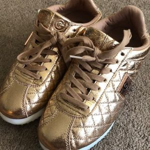 Rose Gold Matalic Sneakers G BY Guess